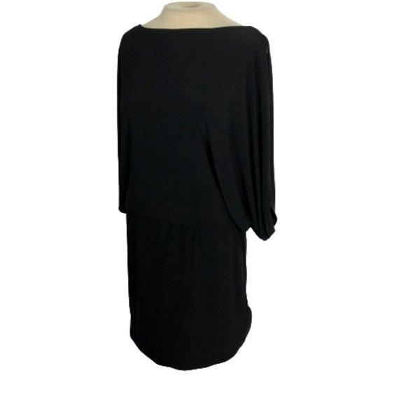 Jessica Simpson Slit Sleeve Black Mini Dress